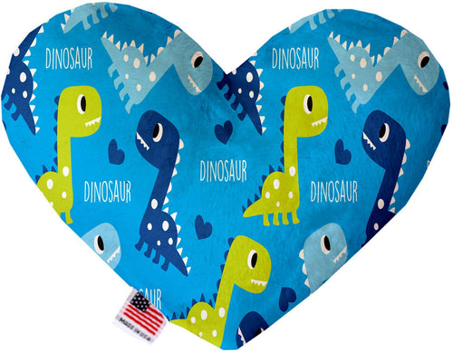 Blue Dinosaurs Inch Canvas Heart Dog Toy-Made in the USA-Bella's PetStor
