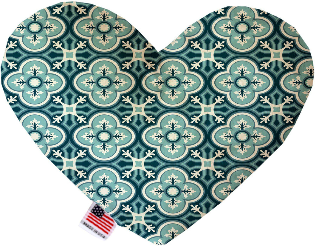 Blue Lagoon Inch Canvas Heart Dog Toy-Made in the USA-Bella's PetStor