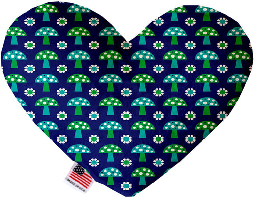 Blue Mushrooms Inch Canvas Heart Dog Toy-Made in the USA-Bella's PetStor