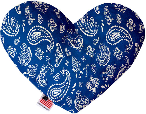 Blue Western Inch Canvas Heart Dog Toy-Made in the USA-Bella's PetStor
