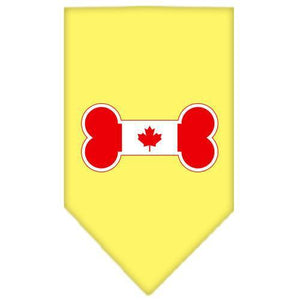 Bone Flag Canadian Screen Print Bandana Yellow Large-bone flag canadian screen print bandana-Bella's PetStor