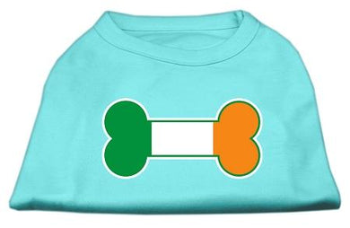 Bone Flag Ireland Screen Print Shirt Aqua-Dog Clothing-Bella's PetStor