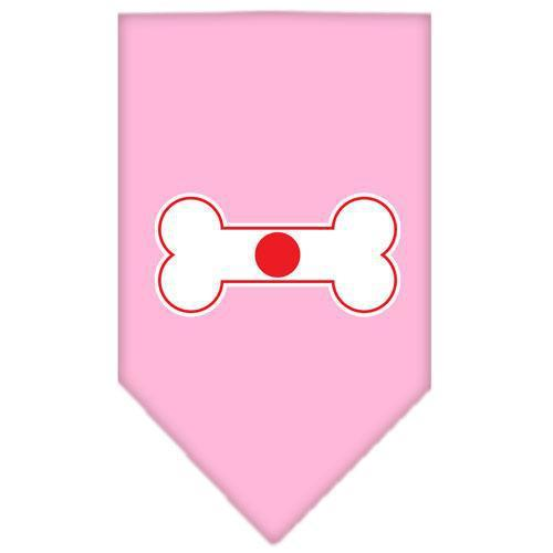 Bone Flag Japan Screen Print Bandana Light Pink Large-bone flag japan screen print bandana-Bella's PetStor