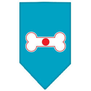 Bone Flag Japan Screen Print Bandana Turquoise Small-bone flag japan screen print bandana-Bella's PetStor