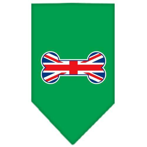 Bone Flag UK Screen Print Bandana Emerald Green Small-bone flag uk screen print bandana-Bella's PetStor