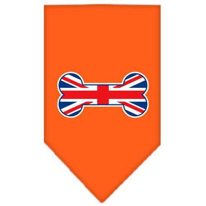 Bone Flag UK Screen Print Bandana Orange Small-bone flag uk screen print bandana-Bella's PetStor