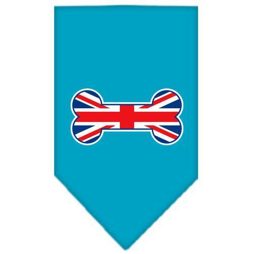 Bone Flag UK Screen Print Bandana Turquoise Large-bone flag uk screen print bandana-Bella's PetStor