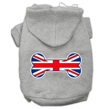 Load image into Gallery viewer, Bone Shaped United Kingdom (union Jack) Flag Screen Print Pet Hoodies-Dog Clothing-Bella's PetStor