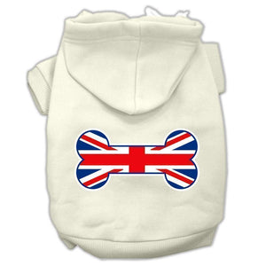 Bone Shaped United Kingdom (union Jack) Flag Screen Print Pet Hoodies-Dog Clothing-Bella's PetStor