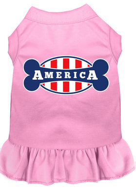 Bonely In America Screen Print Dress Light Pink-Dog Clothing-Bella's PetStor