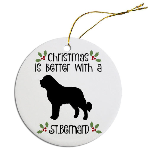 Breed Specific Round Christmas Ornament-Christmas, Hannakuh-Bella's PetStor