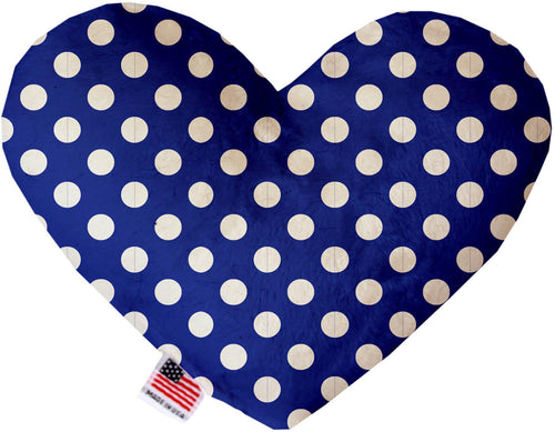 Bright Blue Swiss Dots Inch Heart Dog Toy-More-Bella's PetStor