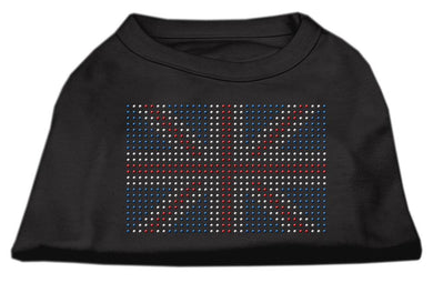 British Flag Shirts Black-Dog Clothing-Bella's PetStor