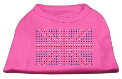 British Flag Shirts Bright Pink-Dog Clothing-Bella's PetStor