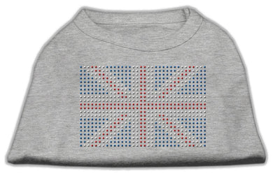 British Flag Shirts Grey-Dog Clothing-Bella's PetStor