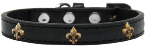 Bronze Fleur De Lis Widget Dog Collar Size-New!-Bella's PetStor