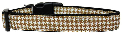 Brown Houndstooth Nylon Cat Collar-DOGS-Bella's PetStor