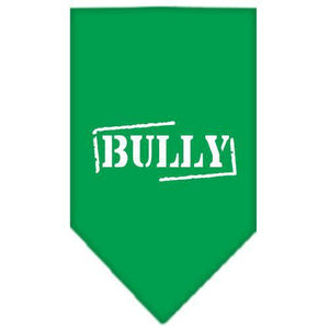 Bully Screen Print Bandana Emerald Green Large-bully screen print bandana-Bella's PetStor