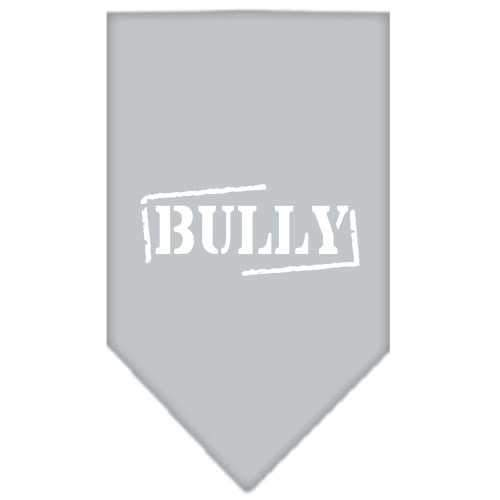 Bully Screen Print Bandana Grey Small-bully screen print bandana-Bella's PetStor