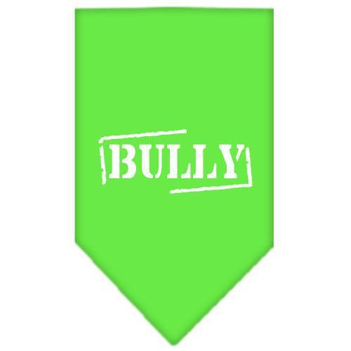 Bully Screen Print Bandana Lime Green Small-bully screen print bandana-Bella's PetStor