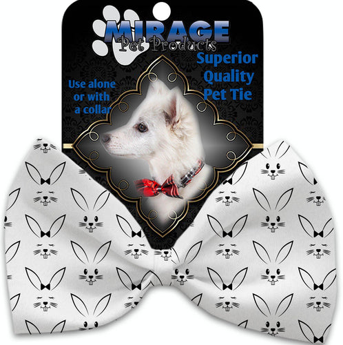 Bunny Face Pet Bow Tie Collar Accessory With Velcro-Bow Ties-Bella's PetStor