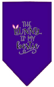 Bunny Is My Bestie Screen Print Bandana-Easter-Bella's PetStor