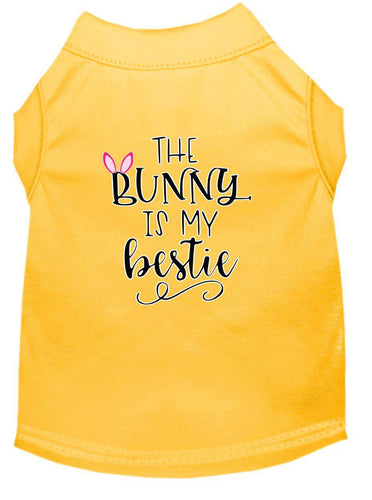 Bunny Is My Bestie Screen Print Dog Shirt-Easter-Bella's PetStor