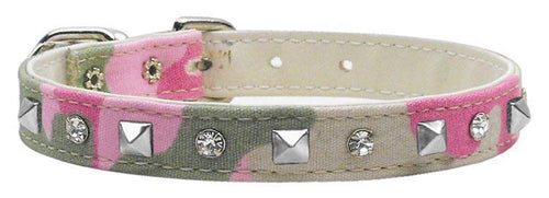 Camo Crystal And Pyramid Collars Camo-Christmas, Hannakuh-Bella's PetStor