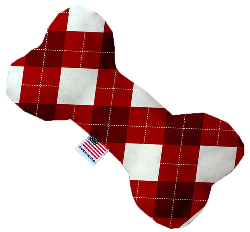 Candy Cane Argyle 8 Inch Bone Dog Toy-Christmas, Hannakuh-Bella's PetStor