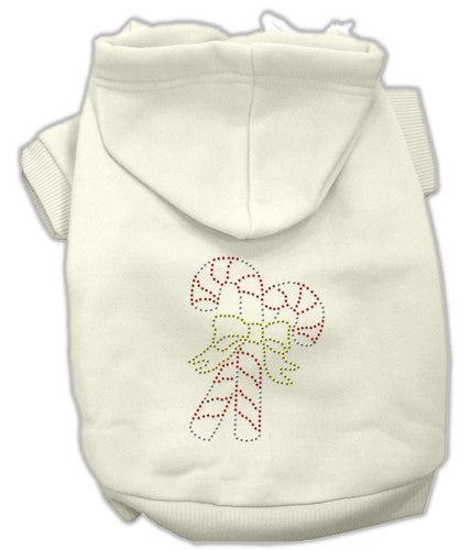 Candy Cane Hoodies-Dog Clothing-Bella's PetStor