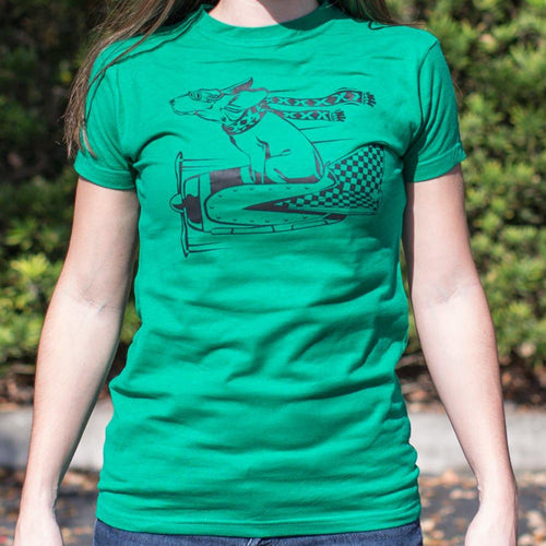 Canine Aviator T-Shirt (Ladies)-Ladies T-Shirt-Bella's PetStor