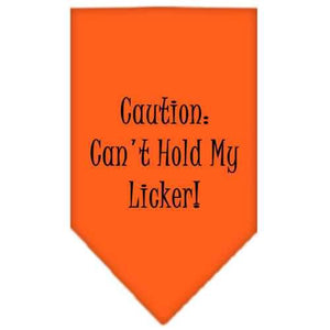 Can't Hold My Licker Screen Print Bandana Orange Small-can t hold my licker screen print bandana-Bella's PetStor