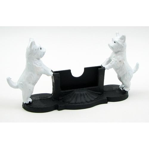 Cast Iron Dog Card Holder-Dogs-Bella's PetStor