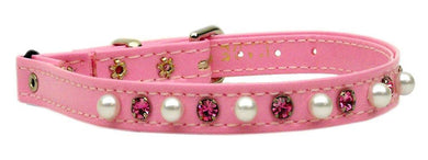 Cat Safety W/ Band Patent Pearl And Crystals-CATS-Bella's PetStor