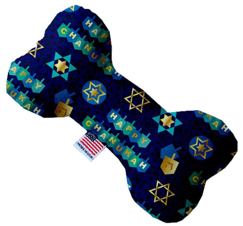 Chanukah Bliss Inch Canvas Bone Dog Toy-Made in the USA-Bella's PetStor