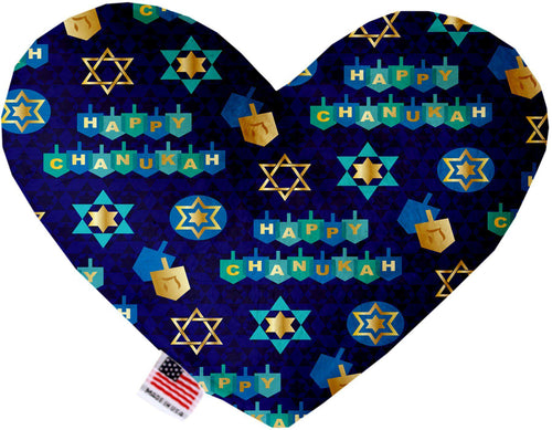 Chanukah Bliss Inch Canvas Heart Dog Toy-Made in the USA-Bella's PetStor