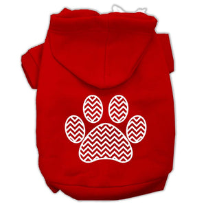 Chevron Paw Screen Print Pet Hoodies Size-Dog Clothing-Bella's PetStor