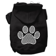 Load image into Gallery viewer, Chevron Paw Screen Print Pet Hoodies Size-Dog Clothing-Bella's PetStor