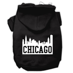 Chicago Skyline Screen Print Pet Hoodies Size-Dog Clothing-Bella's PetStor