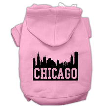 Load image into Gallery viewer, Chicago Skyline Screen Print Pet Hoodies Size-Dog Clothing-Bella's PetStor