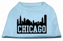 Load image into Gallery viewer, Chicago Skyline Screen Print Shirt Baby Blue-Dog Clothing-Bella's PetStor