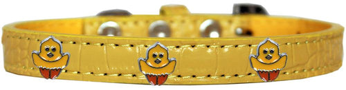 Chickadee Widget Croc Dog Collar-Easter-Bella's PetStor
