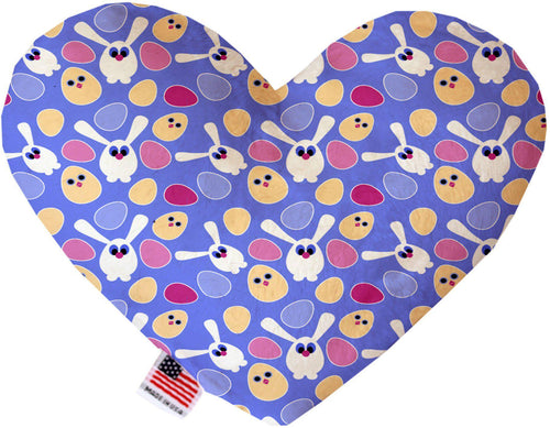 Chicks And Bunnies Inch Canvas Heart Dog Toy-Made in the USA-Bella's PetStor