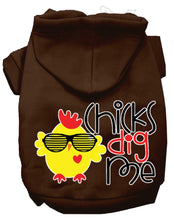 Load image into Gallery viewer, Chicks Dig Me Screen Print Dog Hoodie-Dog Clothing-Bella's PetStor