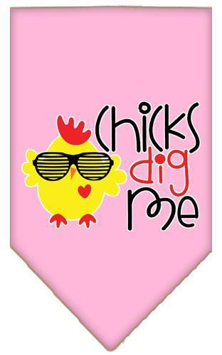 Chicks Dig Me Screen Print Pet Bandana-Dog Clothing-Bella's PetStor