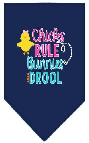 Chicks Rule Screen Print Bandana-Easter-Bella's PetStor