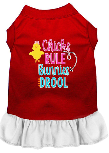 Chicks Rule Screen Print Dog Dress-Easter-Bella's PetStor