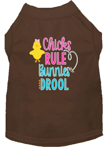 Chicks Rule Screen Print Dog Shirt-Easter-Bella's PetStor