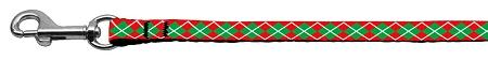Christmas Argyle Nylon Ribbon-Christmas, Hannakuh-Bella's PetStor