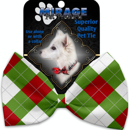 Christmas Argyle Pet Bow Tie-Christmas, Hannakuh-Bella's PetStor